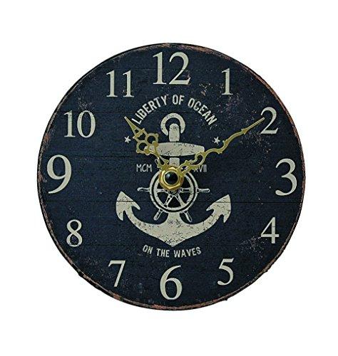 KEYSTONE Old Look Antique design Wall Clock Anker Navy Blue KS-OLCLWANA