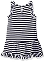 Nautica Girls' Drop Waist Stripe Dress w...