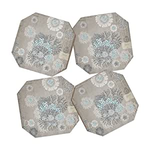 DENY Designs Iveta Abolina French Blue Coasters, Set of 4
