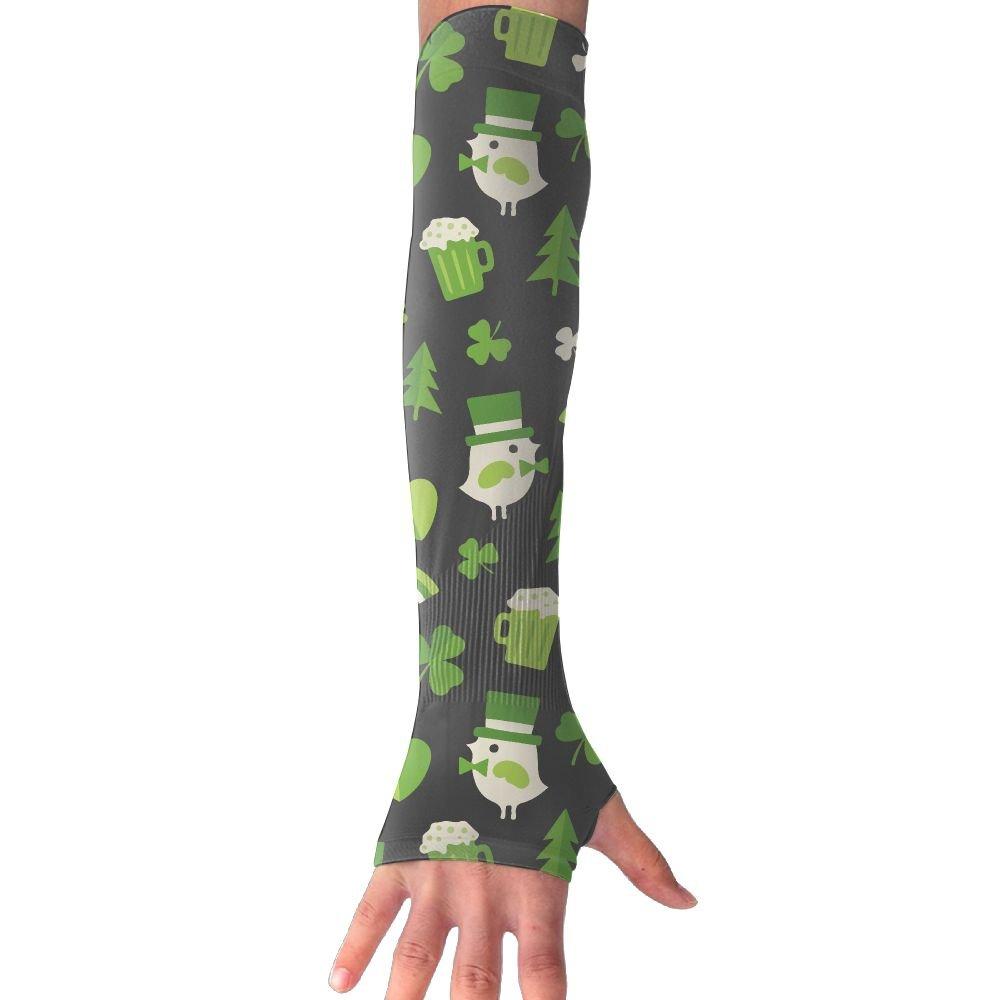 Unisex Birds Clover Beer Sense Ice Outdoor Travel Arm Warmer Long Sleeves Glove