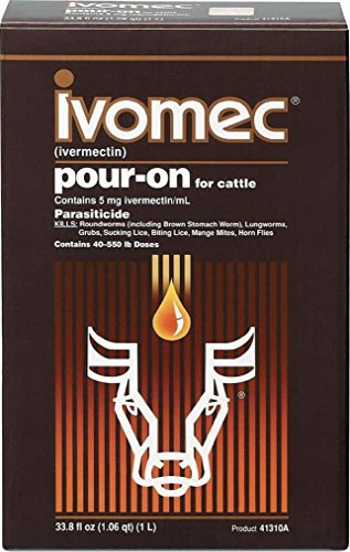 IVOMEC PARASITICIDE POUR-ON FOR CATTLE - 1 LITER by DavesPestDefense