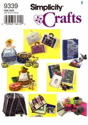 Sewing Book Covers (Simplicity 9339 Crafts Sewing Pattern Bird Cage Sewing Machine Computer Mouse Casserole)