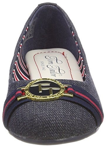Blue Ballet Toe 4890505 Flats Closed Tailor WoMen Navy Tom wWZBXfH0w