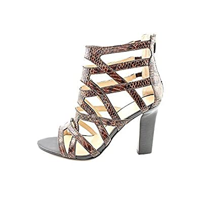 Marc Fisher Womens Leana 2 Caged Heel Sansals Brown Multi Size 55