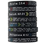 (12-pack) Popular Bible Verses Bracelet Mix - Wholesale Christian Jewelry Products in Bulk Lot