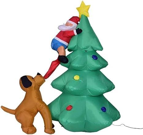 Inflables árbol de Navidad, Santa Claus perro Decoración ...