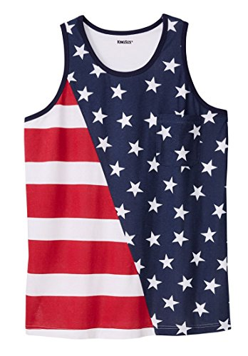 Kingsize Mens Tall American Flag