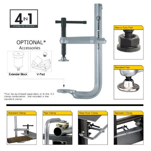 STRONG HAND 4-IN-1 CLAMP KIT~ 10-1/2'' 2400lbs ~ UM105P