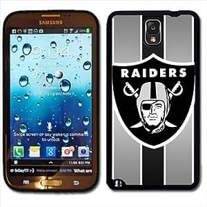 Samsung Galaxy Note 3 Black Rubber Silicone Case - Raiders Football NFL Raider Nation Oakland Raiders