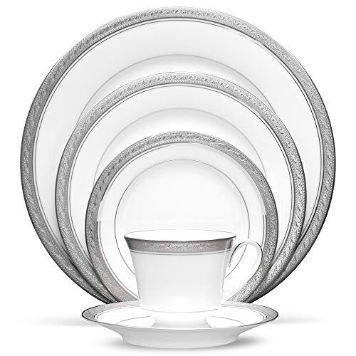 Noritake Crestwood Platinum – 5 piece place setting