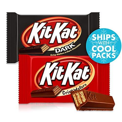 KIT KAT Chocolate Candy Assortment (Milk and Dark Chocolate), 18 Count