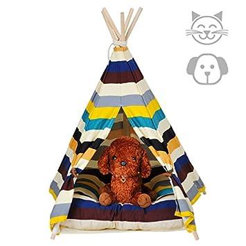 Cama Gato Lavable Tienda Perro de Lona(Tela de Algodon 100%) Casa Gato (S): Amazon.es: Productos para mascotas