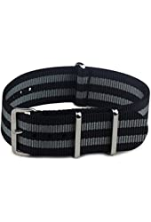 BluShark - The Original Premium Nylon Watch Strap - Multiple Sizes and Styles