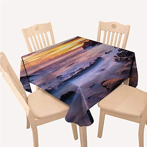 WilliamsDecor Hawaiian Party Supplies Tablecloth Colorful Sunrise at