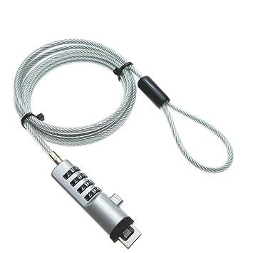 cablematic. fr - Cable USB antirrobo para el ordenador portátil con seguridad de 4 dígitos: Amazon.es: Electrónica