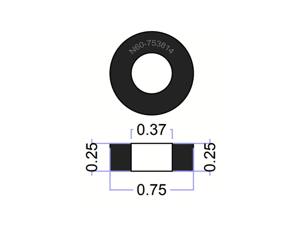 (100 Pack) Thick Neoprene Rubber Washers 3/4'' OD X 3/8'' ID X 1/4'' Thickness - 60 Duro Primal23 Industrial Neoprene Rubber Washers