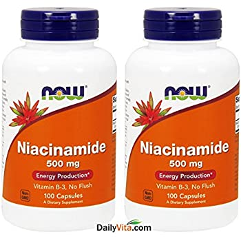 Niacinamide 500mg 100 Capsules (Pack of 2)