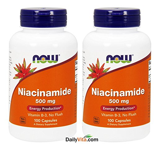 Niacinamide 500mg 100 Capsules (Pack of 2)