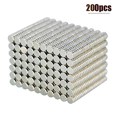 LTKJ 200 PCS 3 x 1mm Refrigerator Magnets Small Magnets Push Pins Fridge Tiny Magnets, Office Whiteboard Magnets Mini Magnets