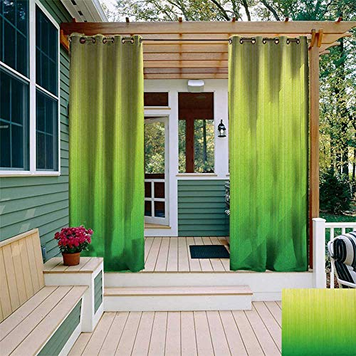 leinuoyi Lime Green, Sun Zero Outdoor Curtains, Pin Striped Digital Background Highlight Lines Abstract Style Futuristic Print, Outdoor Patio Curtains W96 x L96 Inch Pale Green