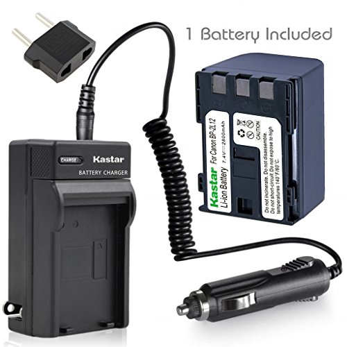 Kastar BP-2L12 Battery + Charger with Car Plug for Canon ZR700 Digital Video Camcorder by Kastar
