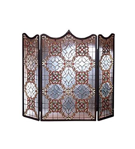 Victorian Beveled Folding Fireplace Screen, 44