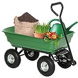 Cart Dumper Wagon Carrier Wheel Barrow 650lb Capacity Green Garden Dump New