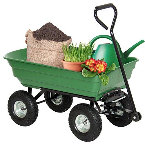 Cart Dumper Wagon Carrier Wheel Barrow 650lb Capacity Green Garden Dump New by t