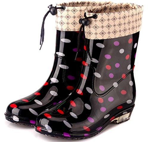 Wellies da Festival Fango B da Stivali Rubber Wellington Donna Scarpe Antiscivolo Rain Alte Ladies Taglie EU36 Fashion Pioggia Snow Impermeabili OYddAw