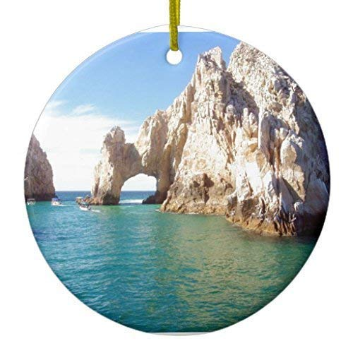 Lionkin8 Christmas Hanging Ornament Cabo San Lucas Mexico Ceramic Ornament Circle 3 inch