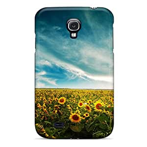 Slim Fit Tpu Protector Shock Absorbent Bumper Sun Field Case For Galaxy S4