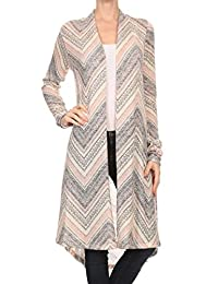 ReneeC. Women's Lightweight Open Front Classic Long Office Cardigan - Made in USA