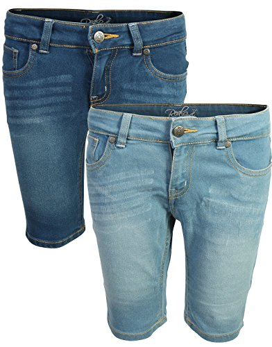 Real Love Girl\'s Bermuda Denim Shorts (2 Pack) Dark & Light, Size ()