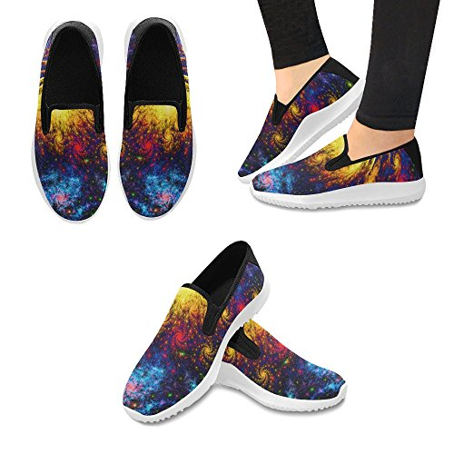Mocassino Slip-on Donna Interestprint Sneakers Moda Multi Canvas 15