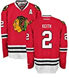 Duncan Keith Chicago Blackhawks Home Red Youth Premier Jersey by Reebok Small