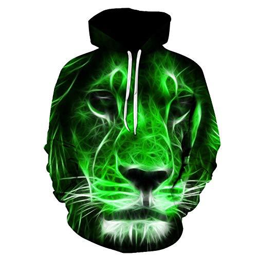 Con 3d Unisex S Felpa 3xl Hoodie Casual Effect Leeqn Manica Light Lunga Cappuccio Maschio Lion Animazione Stampato Donna Cosplay Pullover J1FcTlK