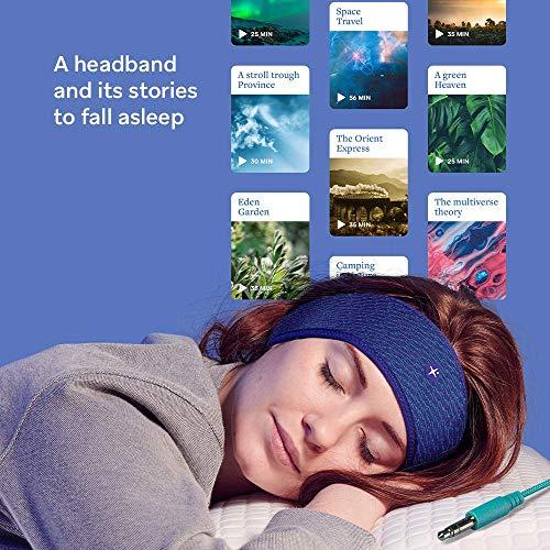 HoomBand Innovative Headband for Sleep, Travel, Meditation   3.5mm Jack Wired   Ultra Flat Speakers   Free Access to…
