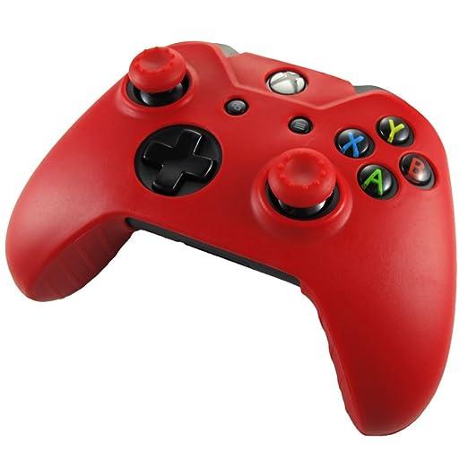 333 opinioni per Pandaren® Pelle cover skin per il Xbox One controller(rosso) x 1 + pollice presa