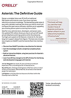 Asterisk: The Definitive Guide: Open Source Telephony for