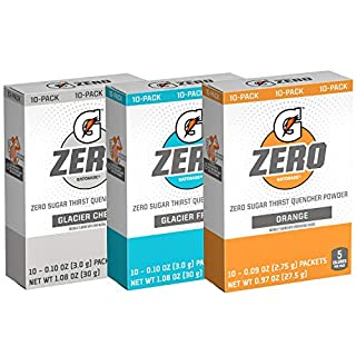 Gatorade Zero Powder, 3 Flavor Variety Pack, 50 Count