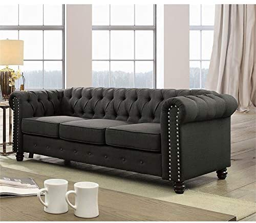 Furniture of America Gabby Traditional Nailhead Trim Fabric Sofa