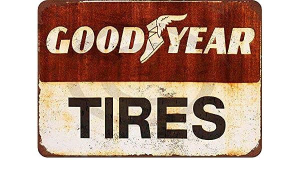 qidushop Goodyear - Cartel de Metal Decorativo para Pared ...