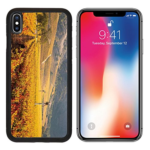 MSD Premium Apple iPhone X Aluminum Backplate Bumper Snap Case IMAGE ID: 27874316 Napa Valley Vineyard in Autumn - Edge Napa Valley Cabernet