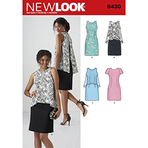 New Look Patterns Misses' Dress in Two Lengths Size A (10-12-14-16-18-20-22) 6430