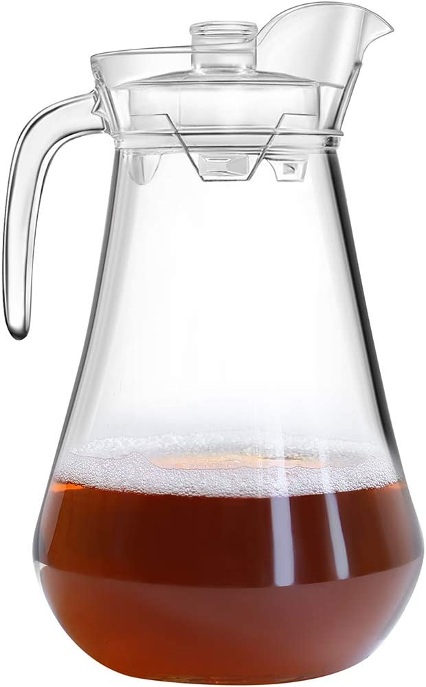 OTARTU Plastic Pitcher with Lid, 68-ounce Cold Beverage Jar,Coffee,Ice Tea Maker. Available For Boiling Water.