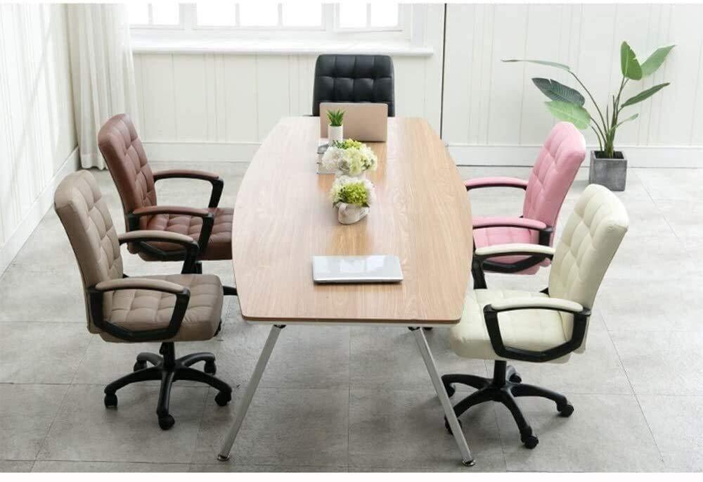 DBL stol hem kontor skrivbord stol dator stol PU konstläder bekväm och andningsbar höjd justerbar bärvikt 150 kg skrivbordsstolar (färg: svart) Svart