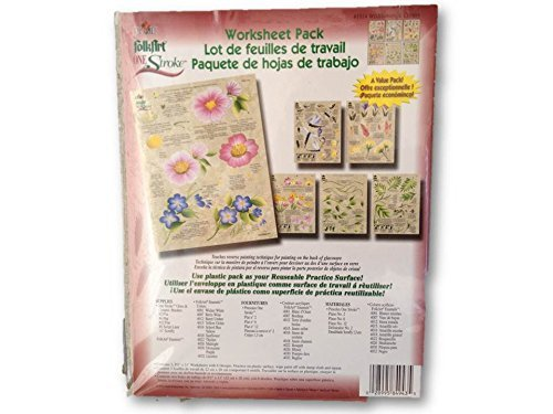 (2014 Wildflowers & Critters One Stroke Reusable Painting Teaching Guide Worksheet Pack)