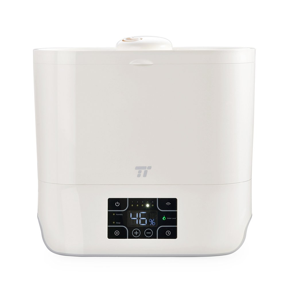 TaoTronics Top Fill Ultrasonic Humidifier, Easy to Clean, Germ Free, Cool Mist Humidifier for Bedroom Large Room, with Ceramic Filter, Humidity Control, Timer, 180° Nozzle - (4L/1.06Gal,100-240V)