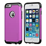 iPhone 6 Plus Case, LUVVITT® ULTRA ARMOR iPhone 6 Plus Case / Best iPhone 6 Plus Case that Fits 5.5 inch Screen | Double Layer Shock Absorbing Cover (Does NOT fit iPhone 5 5S 5C 4 4s or iPhone 6 4.7 inch screen) - Black / Purple