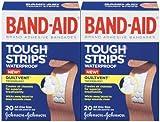 Band-Aid Tough-Strips Adhesive Bandages, Waterproof, 2 pk